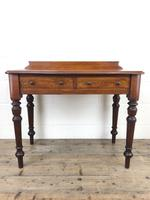 Antique Victorian Mahogany Two Drawer Side Table (2 of 15)