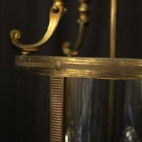 French Gilded Brass Triple Light Antique Lantern (5 of 10)