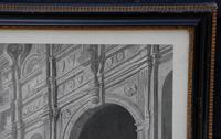 Large 19th Century Engraving. Busy Interior Courtyard Scene (7 of 7)