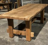 Chunky Bleached Oak Farmhouse Dining Table (2 of 12)