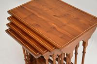 Antique Yew Wood Nest of 4 Tables (2 of 9)