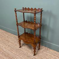Fine Quality Small Victorian Figured Walnut Antique Whatnot (3 of 5)