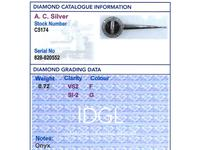 Onyx & 0.72ct Diamond, Platinum Pendant - Art Deco c.1930 (7 of 9)