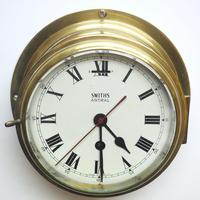 Superb Antique English Smiths Bulkhead Wall Clock 8 Day Ships Clock (8 of 11)