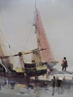 Large oil on canvas seascape listed artist Jorge Aguilar 1970's (4 of 10)