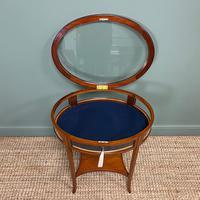 Stunning Victorian Satinwood Bijouterie Jewellery Table (4 of 6)