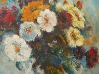 1930s Oil Painting Vase of Flowers (3 of 7)