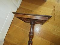 Regency Inlaid Oak Wine Table (3 of 5)