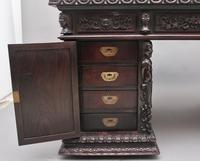 19th Century Chinese Hongmu Pedestal Desk (13 of 19)