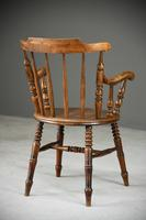 Antique Beech Spindle Back Penny Carver Chair (11 of 11)