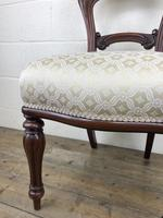 Single Victorian Mahogany Upholstered Chair (9 of 11)