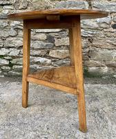 Antique Pine Cricket Table with Shelf (5 of 11)