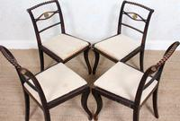 4 Regency Ebonised Dining Chairs Trafalgar (6 of 12)