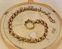 Victorian Pocket Watch Chain 1890s Antique 12ct Rose Gold Filled Albert