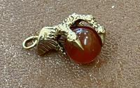 9ct Gold Charm in the Form of a Ball & Claw (3 of 3)