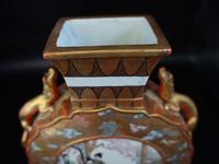 Late 19th Century Kutani Porcelain, Moon Shaped Vase (2 of 6)