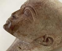 Egyptian Sculpted Alabaster Head (5 of 6)