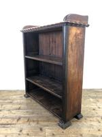 Victorian Walnut Open Bookcase with Gallery Top (8 of 11)