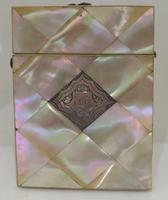 Victorian Abalone Card Case Silver Panel (7 of 7)