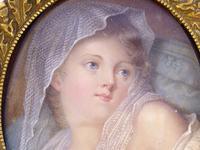After Jean-Baptiste Greuze - Fine Gilt Mounted Portrait Miniature 19th Century (2 of 6)