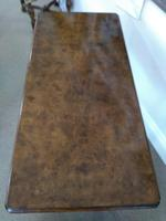 Victorian Burr Walnut Side Table with Bobbin Turned Legs (3 of 4)