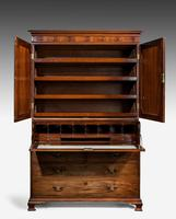 George III Period Mahogany  Clothes Press (5 of 8)