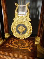 French Rosewwod Portico Clock Complete with Dome & Stand (5 of 9)
