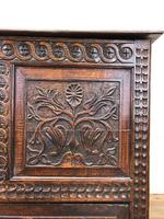 18th Century Carved Oak Mule Chest (9 of 13)