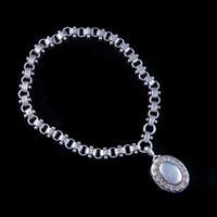 Antique Victorian Locket Collar Necklace Silver c.1880 (6 of 9)