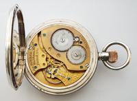 Antique 1911 Silver Waltham Bond Street Pocket Watch (4 of 5)