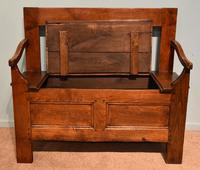 Early Nineteenth Century French Cherry Wood Bench (6 of 7)