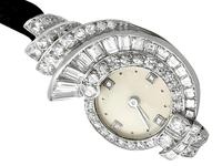 3.07ct Diamond Cocktail Watch in Platinum - Art Deco - French Antique c.1935 (3 of 12)