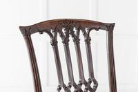 Pair of Georgian Carved Mahogany Side Chairs (4 of 5)