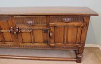 Antique Oak Sideboard Dresser Base Server (10 of 11)
