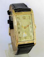 Good Sized Mens 9ct Gold Art Deco Wrist Watch (2 of 5)
