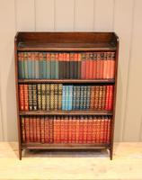 Small Graduated Open Oak Bookcase (3 of 10)
