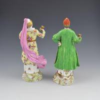 Pair of Samson Porcelain Figures of Ottomans / Turks after Meissen (5 of 13)