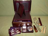 Quality Edge Bound Rosewood Gents Fitted Dressing Box c.1850 (12 of 16)