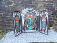 Arts & Crafts Leaded Glass Fire Screen (13 of 14)