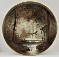 Copeland Victorian Wall-hanging Porcelain Plaque Painted by William Yale, Signed c.1870