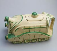Extremely Rare Art Deco Sadler Mallard Train Pottery Teapot c.1930 (4 of 12)