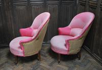 Pair of French Upholstered Fauteuil Armchairs (2 of 5)