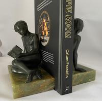 Art Deco Bronze Bookends c.1930 (3 of 8)