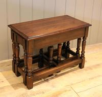Solid Oak Nest of Tables (9 of 11)