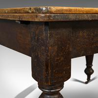 Antique Kitchen Table, English, Extending, Scrub Top, Dining, Victorian c.1870 (10 of 12)
