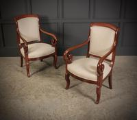 Pair of French Mahogany Empire Chairs (7 of 13)