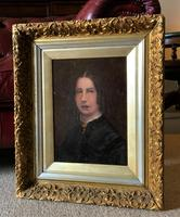 Original 19th Century British Primitive School Oil Portrait Painting of a Lady (7 of 8)