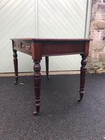 Antique Mahogany Two Draw Writing Table (7 of 11)