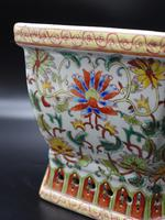 Well Decorated Early 20th Century Hexagonal Chinese Porcelain Jardinière (6 of 7)