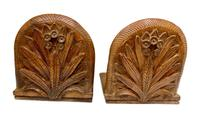 Antique Pair of Carved Oak Bookends c.1905 (5 of 5)